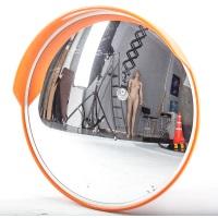 сферическое доржное зеркало с козярьком